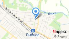 Администрация муниципального образования г. Рыбное на карте