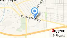 Магазин автотоваров на Ростовской на карте