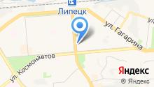 Яндекс. Такси на карте