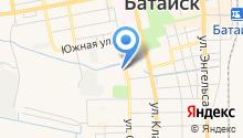 Батайская автомобильная школа на карте