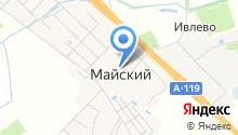 Майская средняя школа на карте