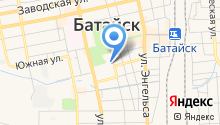 Отдел Военного комиссариата Ростовской области по г. Батайск на карте