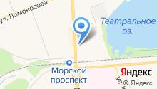 Красная талка на карте