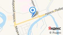 Деловой город на карте