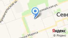 Двина-1 на карте