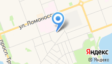 Автокомплекс на ул. Тургенева на карте