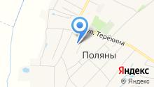 Полянская средняя школа на карте