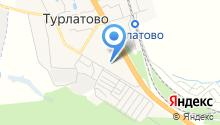 Турлатовская средняя школа на карте
