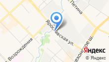 Ярославский на карте