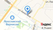 Калининские бани на карте