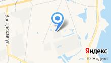 За озером на карте