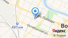 Автостоянка на Благовещенской на карте