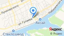 Служба судебных приставов по г. Аксаю на карте