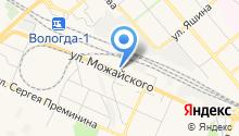 Магазин автозапчастей на ул. Можайского на карте