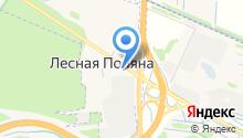 Учебный центр в Лесной Поляне на карте