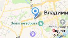 Владимирский строительный колледж на карте
