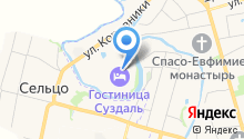 Суздаль на карте