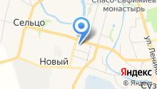 На Цветочной на карте