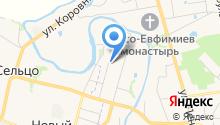 Театральный на карте