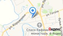 На Туристической на карте