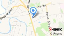 У монастыря на карте