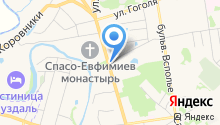 Спасо-Евфимиев монастырь на карте