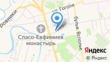 На Пожарского на карте