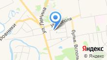У звонницы монастыря на карте