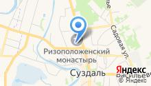 Ризоположенский женский монастырь на карте
