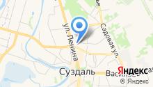 Управление Пенсионного фонда РФ в г. Суздале на карте