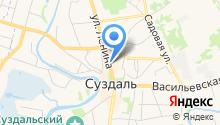 Муниципальное унитарное жилищное ремонтно-эксплуатационное предприятие муниципального образования г. Суздаль на карте