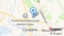 Отдел вневедомственной охраны отдела МВД РФ по г. Суздалю на карте
