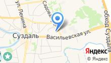 Суздальские городские бани на карте