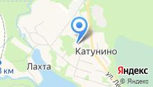 Катунинская средняя школа на карте