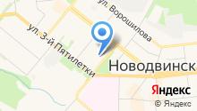 Новодвинская гимназия на карте
