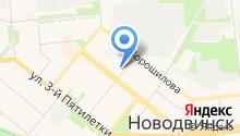 Новодвинское, ПО на карте