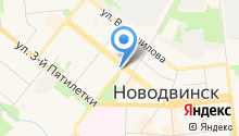 Центр на карте