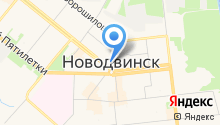 Автостарт-Новодвинск, НОУ на карте