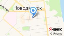 Новодвинский рабочий на карте