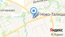 Новоталицкое территориальное управление Администрации Ивановского Муниципального района на карте