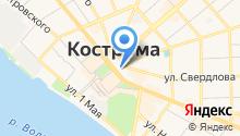Администрация г. Костромы на карте