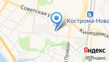 Мировые судьи г. Костромы на карте