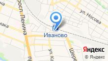 Железнодорожный вокзал г. Иваново на карте
