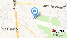 Автостоянка на ул. Кудряшова на карте