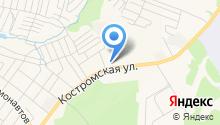 Служба спасения ГО и ЧС Костромской области на карте
