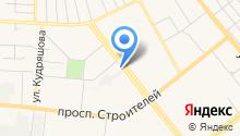 Автостоянка на ул. Шубиных на карте
