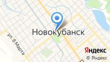 Новокубанская типография на карте