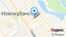 Межрайонный регистрационно-экзаменационный отдел №7 по обслуживанию Новокубанского района на карте