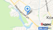 Продовольственный магазин на Ивановской на карте