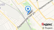 Автостоянка на Лермонтовской на карте